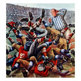 """Football Pile-up,"" October 23, 1948 Giclee Print by Constantin Alajalov"