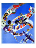 """Squadron Insignia,"" August 23, 1941 Giclee Print by Ski Weld"