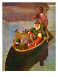 """Canoe Fishing Trip,"" July 12, 1947 Giclee Print by Mead Schaeffer"