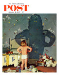 """Big Shadow, Little Boy,"" Saturday Evening Post Cover, October 22, 1960 Giclée-Druck von Richard Sargent"