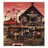 """Four-H Fair,"" August 28, 1948 Giclee Print by Stevan Dohanos"