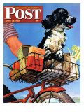 &quot;Butch&#39;s Bike Ride,&quot; Saturday Evening Post Cover, June 23, 1945 Giclee Print by Albert Staehle