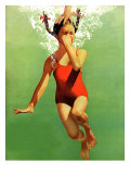 """Dunked Under Water,"" August 9, 1941 Giclée-Druck von John Hyde Phillips"