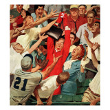 """Grandma Catches Fly-ball,"" April 23, 1960 Giclee Print by Richard Sargent"