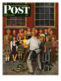 """School Pictures,"" Saturday Evening Post Cover, June 15, 1946 Giclee Print by Stevan Dohanos"