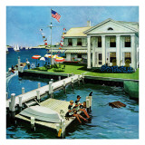 """Yacht Club,"" June 23, 1962 Giclee Print by George Hughes"