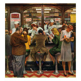 """Lunch Counter,"" October 12, 1946 Reproduction procédé giclée par John Falter"