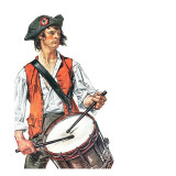 """Re-print of ""Colonial Drummer"","" July/Aug 1976 Giclee Print by J.C. Leyendecker"