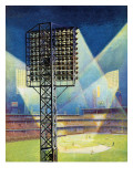 """Baseball Stadium at Night,"" June 28, 1941 Giclee Print by Roy Hilton"