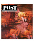 """Lido Chorus Girl,"" Saturday Evening Post Cover, March 7, 1964 Giclee Print by David Douglas Duncan"