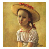 """Portrait of a Little Girl,"" September 13, 1947 Giclee Print by Alexander Brook"