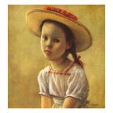 """Portrait of a Little Girl,"" September 13, 1947 Giclee Print by Alexander Brook"