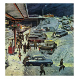 """Commuter Station Snowed In,"" December 24, 1960 Giclee Print by Ben Kimberly Prins"