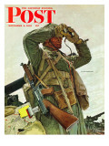 """""""Tank Patrol,"""" Saturday Evening Post Cover, November 6, 1943 Giclee Print by Mead Schaeffer"""