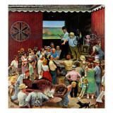 """Country Auction,"" August 5, 1944 Giclee Print by John Falter"
