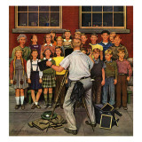 """School Pictures,"" June 15, 1946 Giclee Print by Stevan Dohanos"