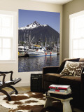 Boats at the Marina, Sitka, Alaska, USA Wall Mural by Douglas Peebles