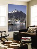 Boats at the Marina, Sitka, Alaska, USA Wall Mural by Douglas Peebles