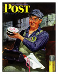 """Happy Father's Day,"" Saturday Evening Post Cover, June 19, 1943 Giclee Print by Howard Scott"