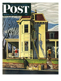 """Spring Cleaning,"" Saturday Evening Post Cover, March 26, 1949 Giclee Print by John Falter"