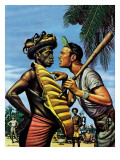 """Island Game,"" April 21, 1945 Giclee Print by Stevan Dohanos"