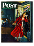 """Hidden Gifts,"" Saturday Evening Post Cover, December 10, 1949 Giclee Print by Constantin Alajalov"