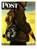 """Pocket Pal,"" Saturday Evening Post Cover, November 17, 1945 Giclee Print by Albert Staehle"
