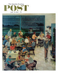 &quot;Clubhouse on Rainy Day,&quot; Saturday Evening Post Cover, July 8, 1961 Reproduction proc&#233;d&#233; gicl&#233;e par Ben Kimberly Prins
