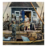 """Buying Lobsters,"" July 2, 1949 Giclee Print by Stevan Dohanos"