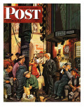 """""""Backstage at the Met,"""" Saturday Evening Post Cover, January 5, 1946 Giclee Print by Stevan Dohanos"""