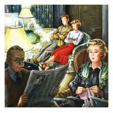 """TV Date,"" October 1, 1949 Giclee Print by Constantin Alajalov"