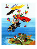 """Flying Cars,"" November 1, 1983 Reproduction procédé giclée par Ann Thompson"