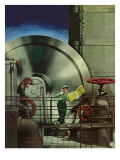 &quot;How to Operate a Power Plant,&quot; October 2, 1943 Reproduction proc&#233;d&#233; gicl&#233;e par Russell Patterson