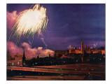 """""""Kremlin Fireworks,"""" November 4, 1967 Giclee Print by John Launois"""