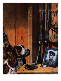"""Patient Dog,"" December 12, 1942 Giclee Print by John Atherton"