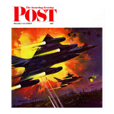 """Failsafe,"" Saturday Evening Post Cover, October 13, 1962 Giclee Print by Robert McCall"