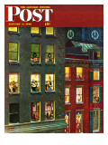 """Apartment Dwellers on New Year's Eve,"" Saturday Evening Post Cover, January 3, 1948 Reproduction procédé giclée par John Falter"