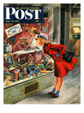 """Shopping for Mother's Day,"" Saturday Evening Post Cover, May 10, 1947 Reproduction procédé giclée par Constantin Alajalov"