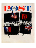 """The Peacemakers,"" Saturday Evening Post Cover, October 14, 1961 Giclee Print by Herb Lubalin"