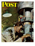 """Up Periscope!,"" Saturday Evening Post Cover, April 22, 1944 Giclee Print by Mead Schaeffer"