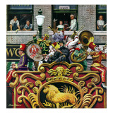 """Clown Band,"" June 26, 1948 Giclee Print by Stevan Dohanos"