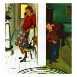 """Eavesdropping on Sis,"" November 19, 1949 Giclee Print by George Hughes"