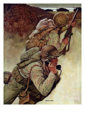 """Signal Corpsmen During Battle,"" September 9, 1944 Gicleetryck av Mead Schaeffer"