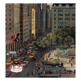 """Fifth Avenue,"" March 19, 1960 Giclee Print by John Falter"