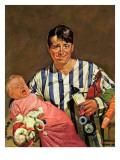 """""""Early Morning Feeding,"""" January 27, 1945 Giclee Print by Howard Scott"""