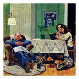 """After Dinner at the Farm,"" March 27, 1948 Giclee Print by John Falter"