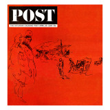 """Armageddon,"" Saturday Evening Post Cover, April 20, 1963 Reproduction procédé giclée par Feliks Topolski"