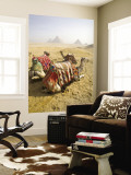 Resting Camels Gaze Across the Desert Sands of Giza, Cairo, Egypt Wall Mural by Dave Bartruff