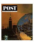 """New York World's Fair,"" Saturday Evening Post Cover, May 23, 1964 Giclee Print by John Zimmerman"