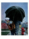 """Mailman,"" May 13, 1944 Giclee Print by Stevan Dohanos"